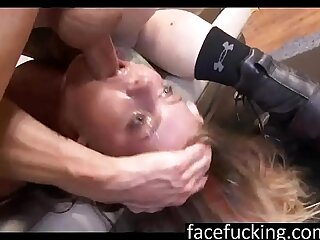 The Face Fucking Of A Dumb 18 Year Old Blonde