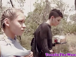 Busty teen roughly fucked by crazed voyeur