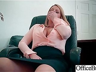 Round Big Tits Girl (Brooklyn Chase) Get Banged In Office clip-15
