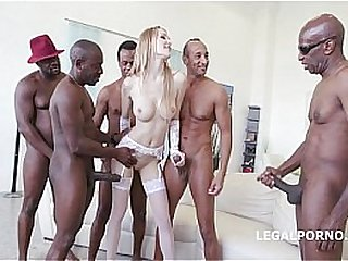Belle Claire gangbang with BBC