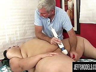 Young Fatty Mia Riley Rubbed till Orgasm