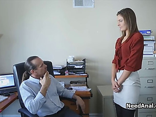 Legal Age Teenager secretary arse drilled by lascivious boss