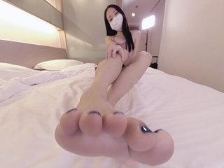 Cute Asian Wants to Feed You Her Feet 1 - Ainovdo