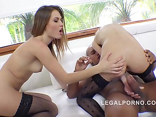 Gapefarting Sluts Ginger Fox & Daisy Duke Anal Threesome