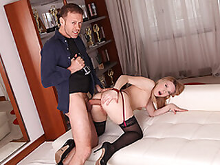 Rocco Siffredi analed hot russian blonde