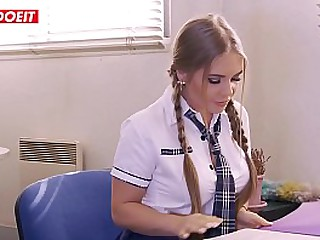 Big Titted Blonde Teen Rides Teachers Cock - LETSDOEIT.COM